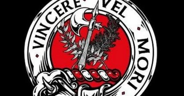 Clan maclaine of lochbuie crest badge v neck t shirt for Buchanan clan tattoo