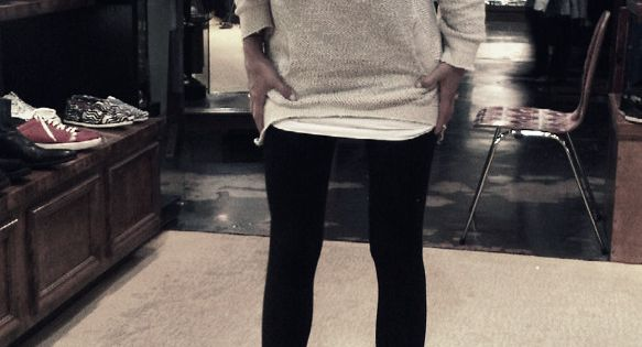 Leggings + Oversized Sweater + Boots..my life in the fall/winter.