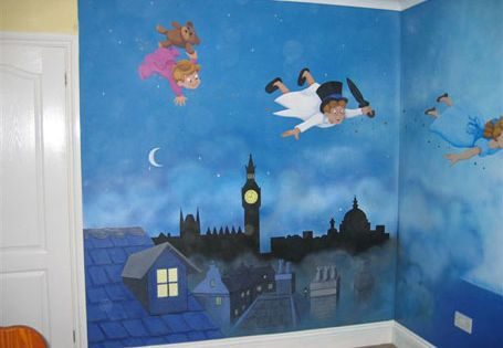 Peter pan mural magical murals decoraci n paredes - Mural para habitacion ...