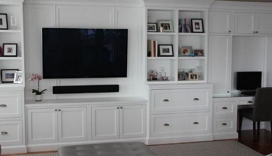 Media Room TV Above Fireplace Design Pictures Remodel
