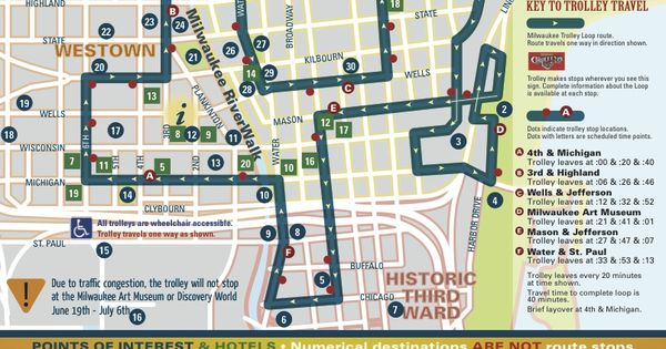 Milwaukee Downtown Trolley Loop 1 Wisconsin Travel