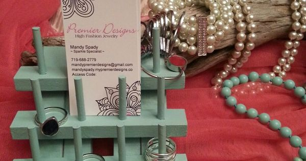 Premier designs jewelry ring business card holder for Premier designs jewelry business cards