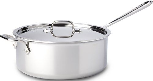 All Clad 4206 Stainless Steel Tri Ply Bonded Dishwasher Safe 6 Quart Deep Saute Pan With Lid Cookware Silver Saute Pan Cookware Stainless Steel Cookware All clad 6 quart saute pan