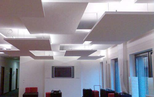 Panneau de plafond acoustique en mousse 100 300 mm for Fou plafond deco