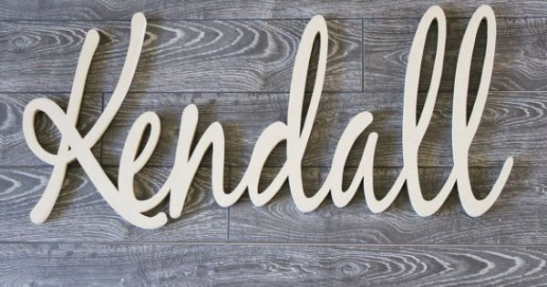 Kendall Unfinished Wooden Name Sign Unpainted Nursery