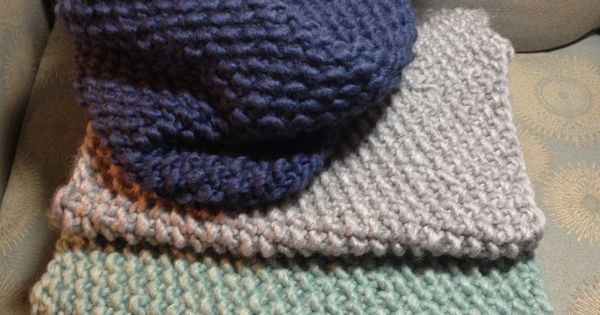 Knitting Casting Off Seed Stitch : One Skein Cowl Scarves! Using Bernat Roving yarn & 13