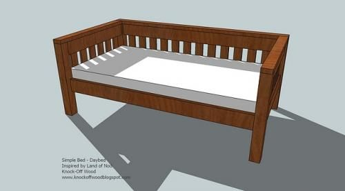 Simple Daybed Diy Daybed Furniture Plans Diy Furniture Plans