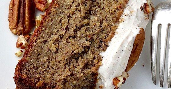 Skinny Banana Cake with Maple Frosting | Recipe | Banana Cakes, Maple ...