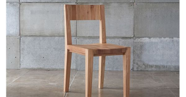 Mashstudios Wood Dining Chair Will Bring A Modern Rustic Element To A Table Dining Chairs Wood Dining Chairs Furniture