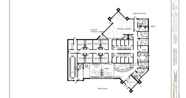 Multi Doctor Sports Chiropractic Office Floor Plan 9154