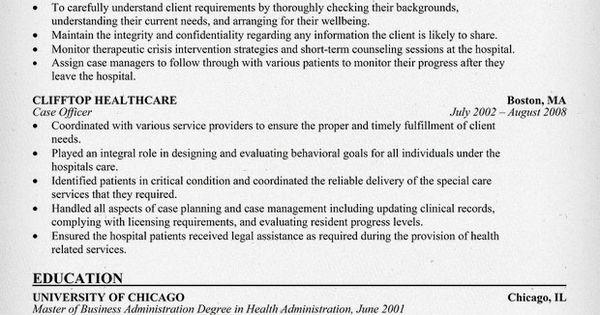 case manager resume resume samples