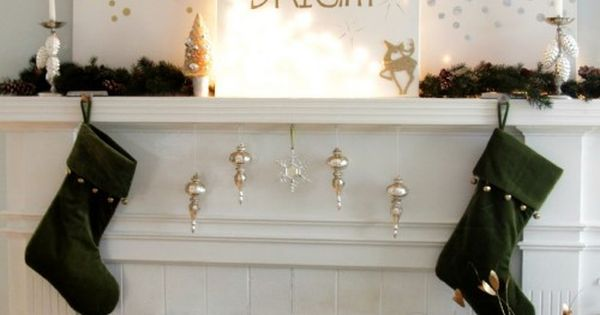 30 DIY Christmas Decorations Ideas- I would cut holes in canvas and