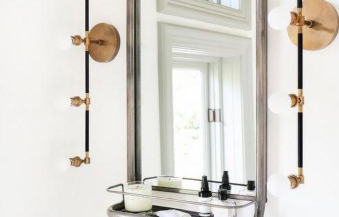 Modern Bathroom Features A Restoration Hardware Astoria