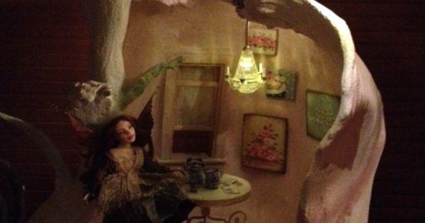 Cupcake fairy house progress