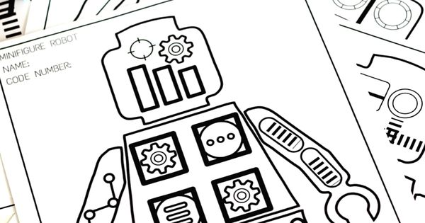 Minifigure Robot Coloring Pages Free Printable Coloring ...