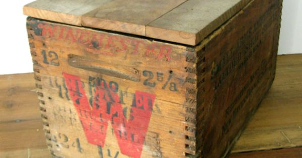 Dovetail Details Vintage Winchester Ammo Box Wood Ammo