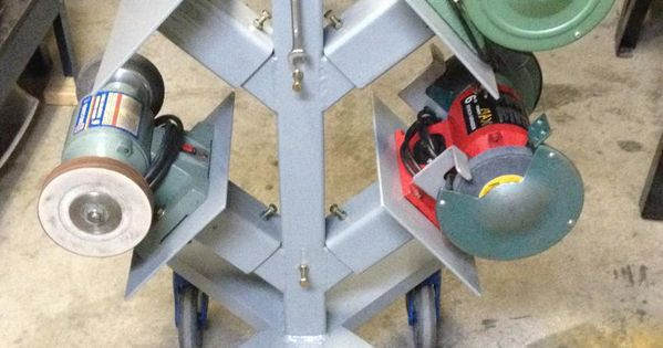 Clever Idea For Storing Bench Grinders For The Workshop