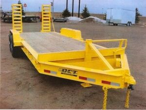 Dct Steel Heavy Duty Equipment Industrial Flatbed Trailer With