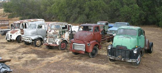Collection Of Coe Cab Over Engine Trucks Ready For Restoration