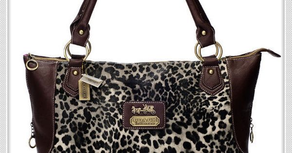 #Coach Purses Fashionable And Cheap Coach Leopard Fur Large Coffee Totes BAJ