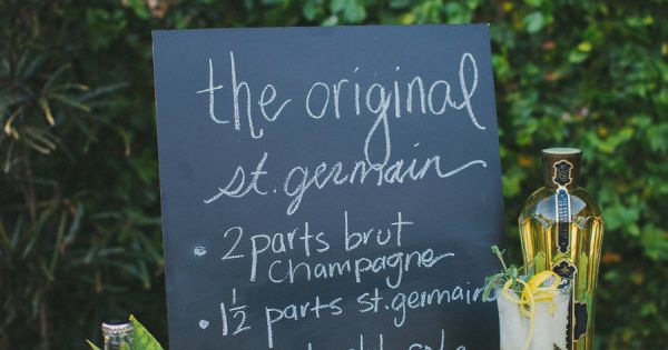 For an outdoor party: the Original St. Germain Cocktail.