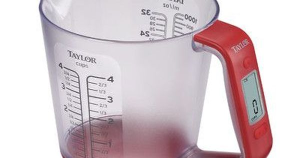Taylor 4 Cups Digital Scale With Measuring Cup Measuring Cups