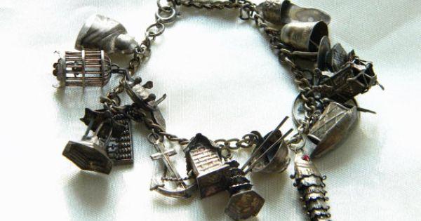 Music Charm for Charm Bracelets 1940s Sterling Silver Drum Charm Vintage Sterling Silver Drum Charm Southwest Drum