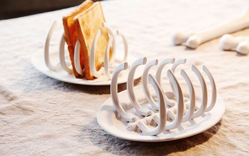 bread toast rib bones cage horror kitchen utensils