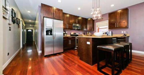 2743 W Thomas 201 Chicago Il 60622 Wicker Park Condo Cherry Wood Floors Gray Living Room Paint Colors Wood Floors