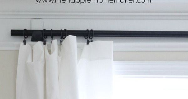 how to hang curtains with command hooks no holes renter friendly window treatments. Black Bedroom Furniture Sets. Home Design Ideas