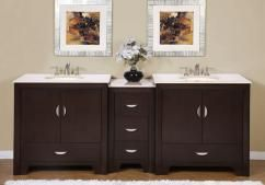 90 Inch White Double Sink Vanity With Images Double Vanity