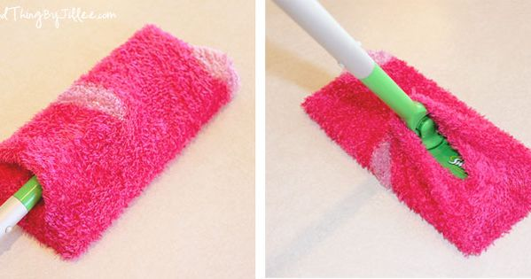 Make Your Own Endless Supply of Swiffer Refills! Fuzzy Socks from the