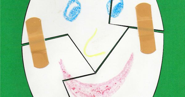 Humpty Dumpty craft: help put him together again Activities for Nursery Rhyme