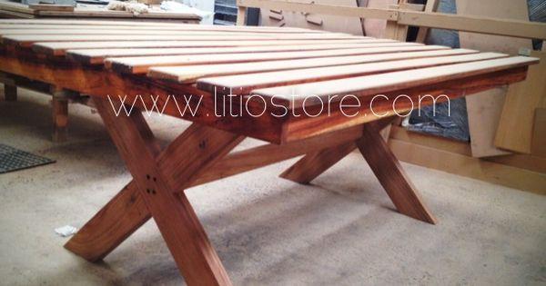 Mesa de madera parota con terminado para exterior litio - Mesas de madera para exterior ...