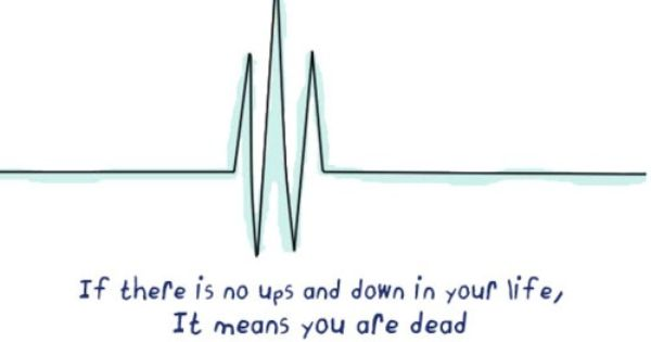 If there is no ups and downs in your life, It means