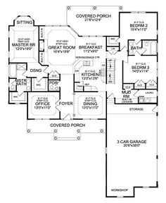 Craftsman House Plan With Walk Out Basement Rustic House Plans Basement House Plans Basement Floor Plans