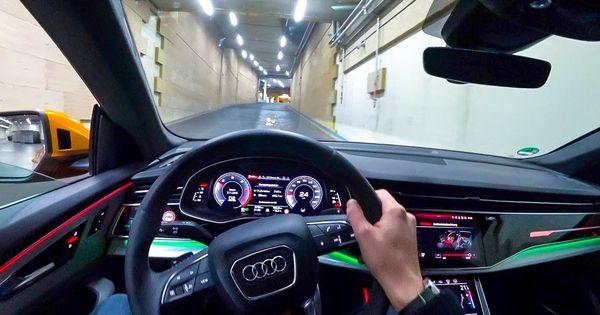 2019 Audi Q8 50tdi Night Pov Drive Matrix Led Headlights 60fps Lets Audi Q7 Audi Led Headlights