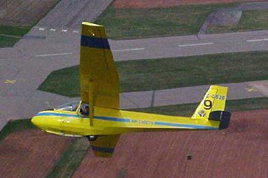 Schweizer 2 22 Landing Aircraft Gliders Card Model