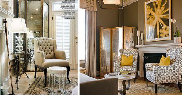mirrored screen living room Fancy That Pinterest