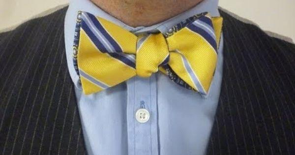 Tie knots - How to Tie A Bow Tie version 1