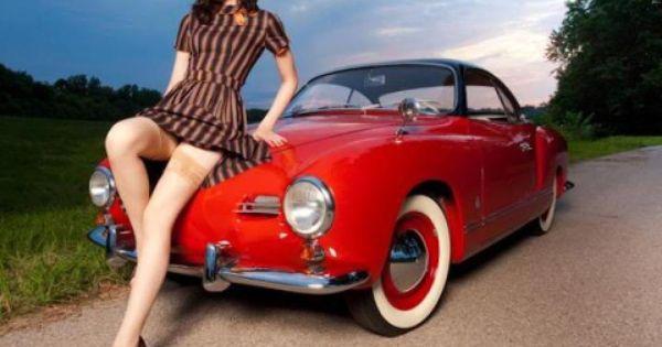 VW Red Karmann ghia pin up model   Volkswagen   Pinterest   Volkswagen