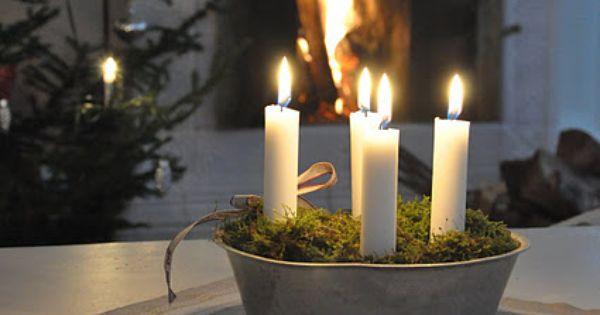 holiday centerpiece idea advent wreath