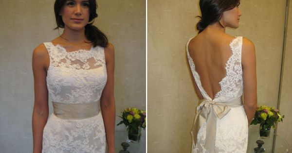 Lace Low back wedding dress.