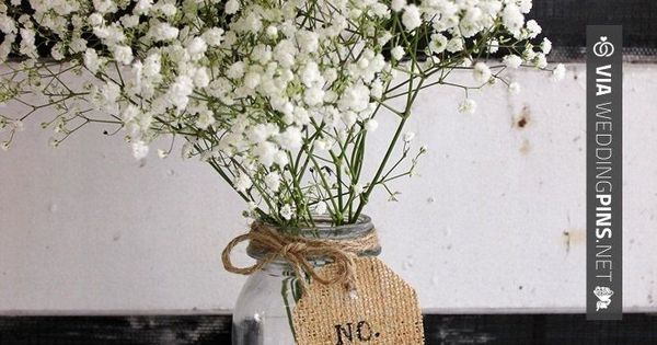 Burlap is still so popular/trendy for weddings! Check out this table number