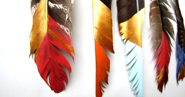 {DIY painted feather mobile} Needle and Nest Design ::I want to use