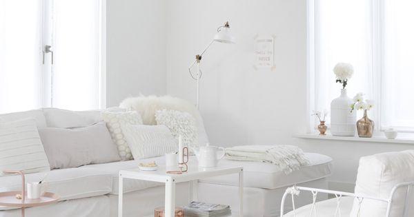 Wit interieur met koper en lichtroze - Blog - ShowHome.nl