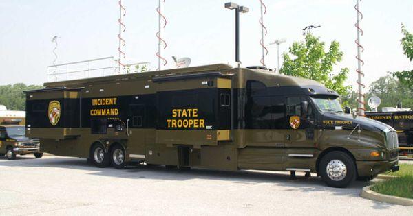 Big Police Office On Wheels Truck Truck Pinterest