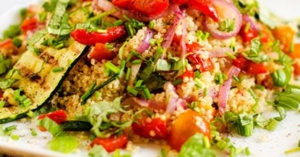 Grilled vegetables, Quinoa salad and Quinoa on Pinterest