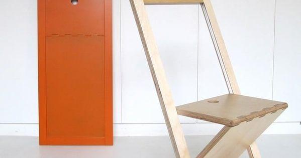 Woodmood La Chaise Pliante By Mathieu Camillieri Chaise Pliante Design Tabouret Pliant Et Chaise Pliante Bois