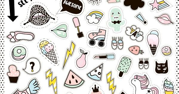 AWESOME PATCHES SUMMER PACK – hand drawn fashion patches collection